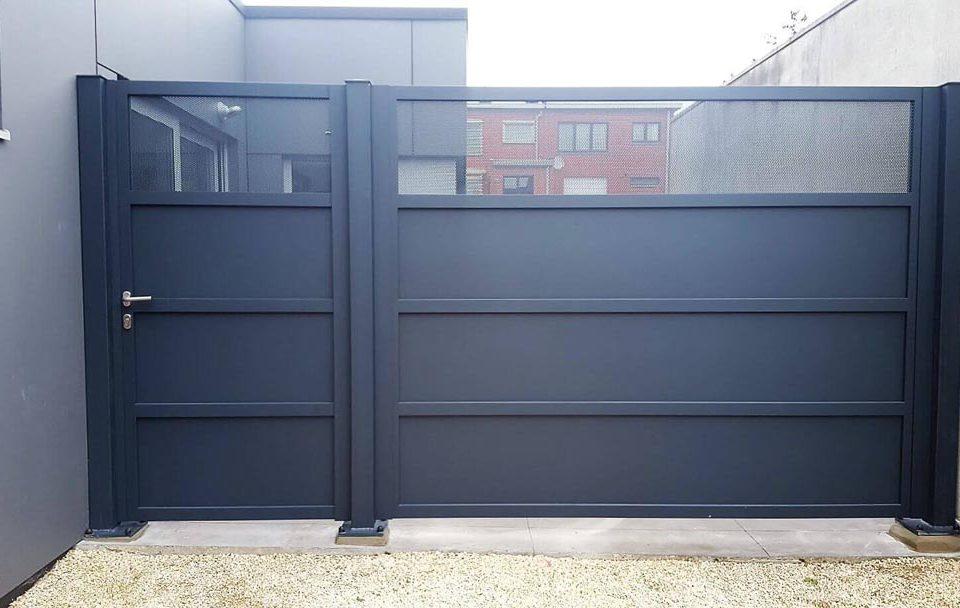 Kwai-gesloten-perfo_enkele-draaipoort-manueel-met-vast-paneel-AG Design
